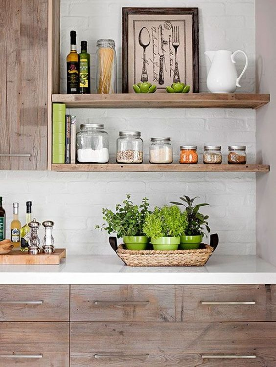 practical and healthy herb display kitchen