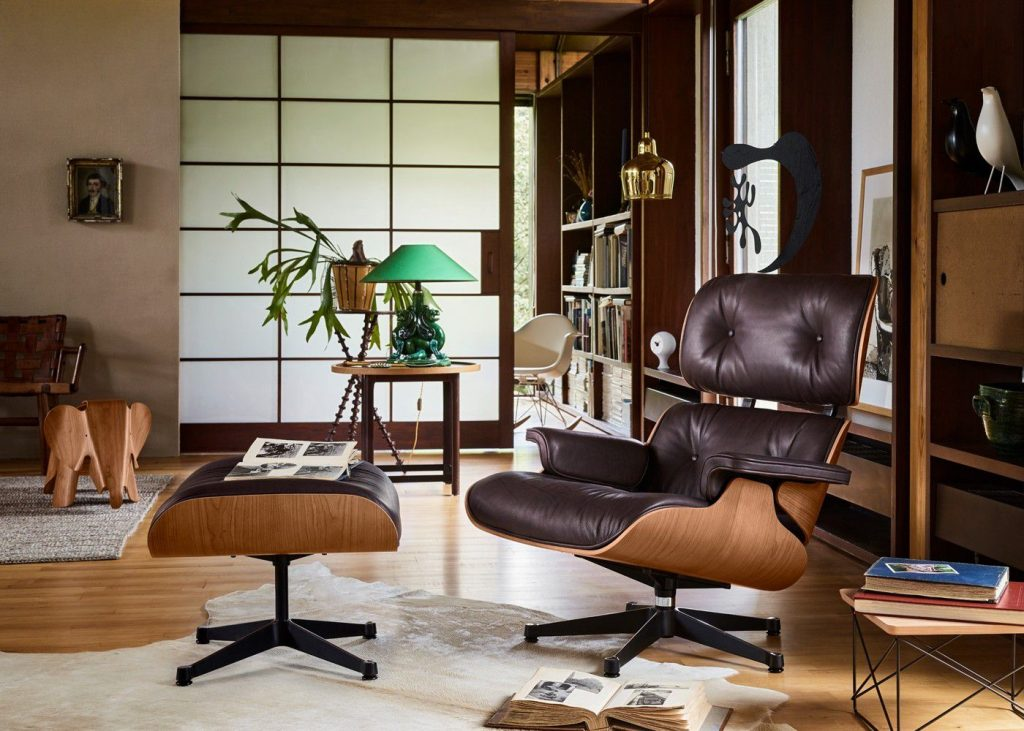 The classic Vitra Eames lounge chair