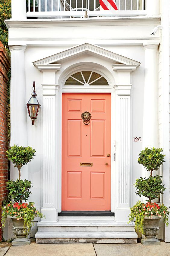 bright entrance door