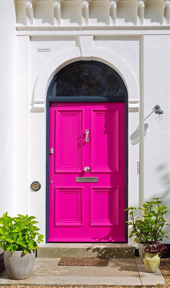 bright entrance door